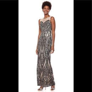 Adrianna Papell Long Sequin Gown